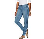 Martha Stewart Regular Ankle Jeans with Tuxedo Stripe Panel - A303227