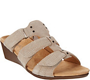 Vionic Suede Slide Wedges - Corra - A304227
