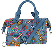 As Is Vera Bradley Signature Print Hadley Satchel Hdbg w/RFIDCase - A304627