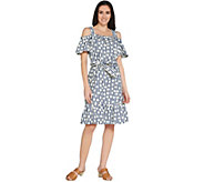 Isaac Mizrahi Live! TRUE DENIM Stripe & Dot Dress - A306427