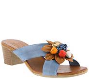 Spring Step Leather Slide Sandals - Bouquet - A364127