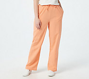 Denim & Co. Regular Classic Waist Drawstring Gauze Pants - A69927