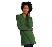 Liz Claiborne New York Cotton Cashmere Crossover Sweater Tunic - A217128