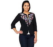 Bob Mackies Embellished Zip-Front Jubilation Jacket - A222628