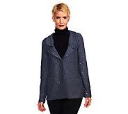 Joan Rivers Soft Knit Sequin Jacket - A227128