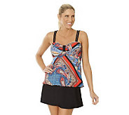 Ocean Dream Signature Fancy Scarf Babydoll Tankini w/ Skirtini - A233028