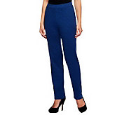 Susan Graver Double Knit Houndstooth Pull-on Pants - A237828