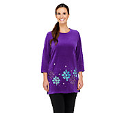 Quacker Factory Winter Wonderland Velour Top - A238728