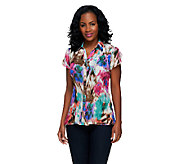 Sunny Leigh Release Pleat Tulip Sleeve Button Down Shirt - A253928