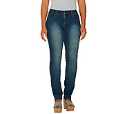 Women With Control Petite Denim Slim Leg Pants - A259928