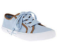 As Is Isaac Mizrahi Live! Canvas Tie Sneakers - A260428
