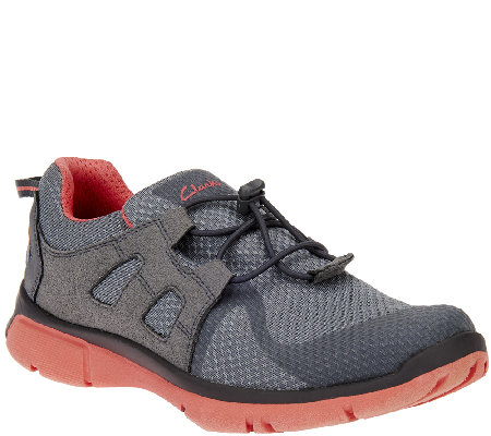 clarks outdoor mesh athletic shoes w bungee luminate
