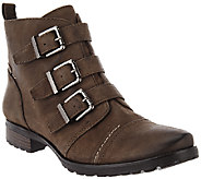 Earthies Leather Ankle Boots with Buckle Details - Carlow - A270028