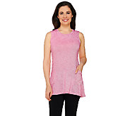 As Is LOGO by Lori Goldstein Stripe Knit Tank with Drape Pockets - A271028