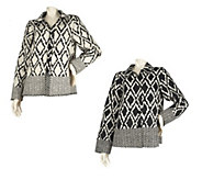 As Is George Simonton Reversible Geometric Print Jacket - A276728