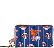 Dooney & Bourke MLB Nylon Twins Zip Around Phone Wristlet - A281728