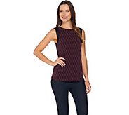 Susan Graver Printed Liquid Knit Sleeveless Top - A285428