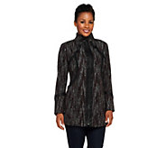 As Is SA by Seth Aaron Zip Front Coat with Faux Leather Trime - A287228