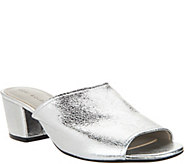 Lori Goldstein Collection Slip-On Peep Toe Sandals w/ Block Heel - A292328