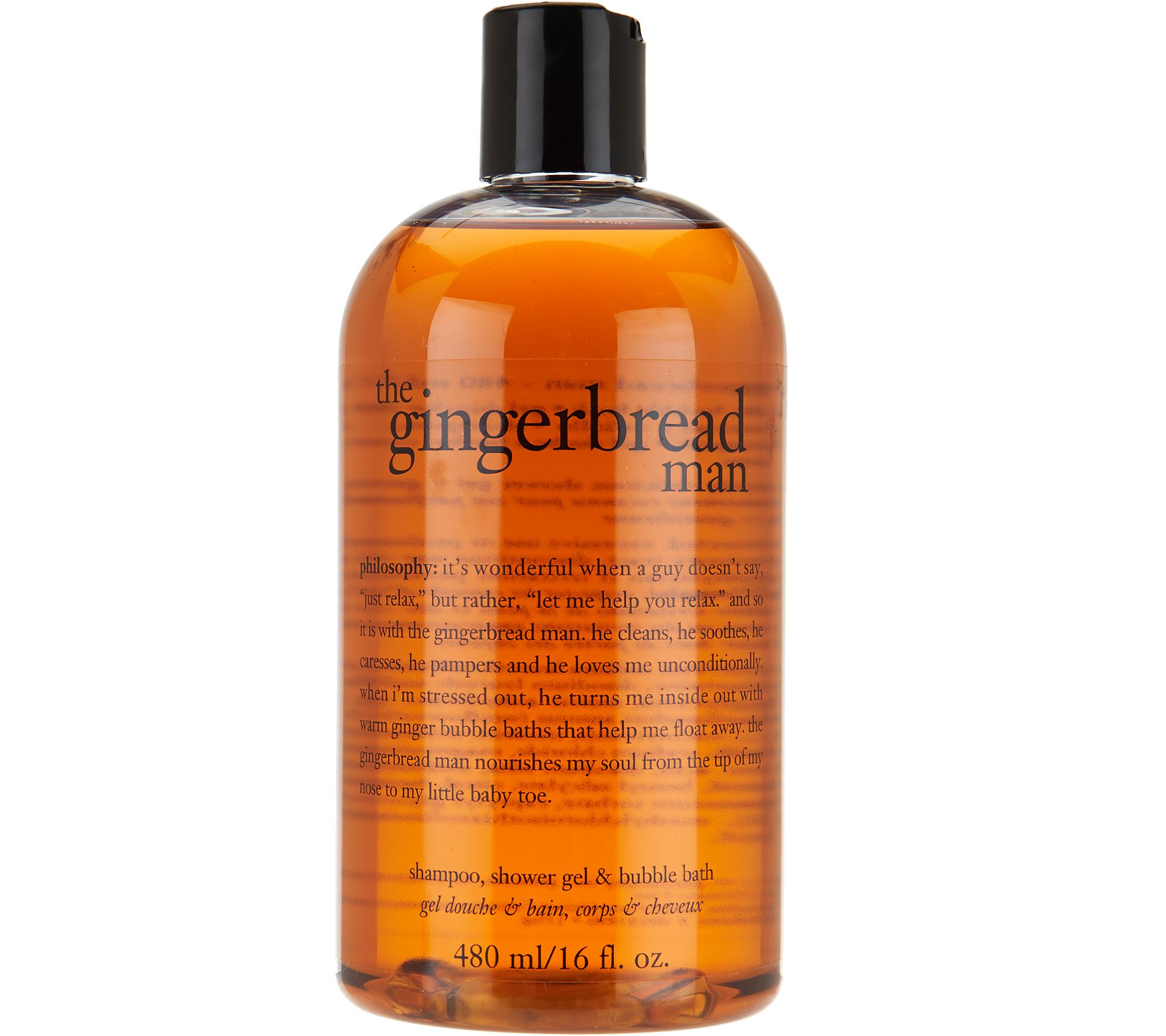 philosophy gingerbread man 3 in 1 shower gel trio page 1 qvc com
