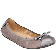 GEOX Leather or Suede Flats with Bow Detail - Lola - A298928