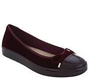 Isaac Mizrahi Live! Velvet & Patent Leather Slip-On Sneaker Flats - A299828