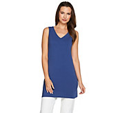 As Is Women with Control Petite Long & Lean V-Neck Knit Tank - A300028