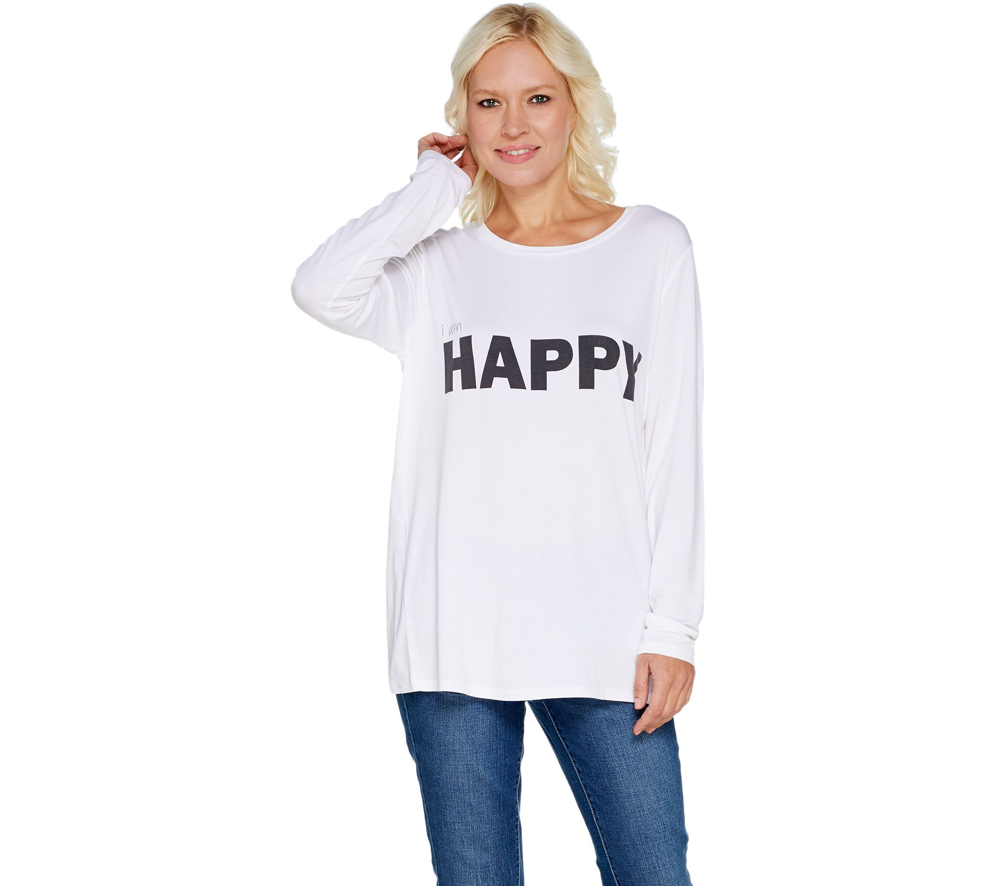 Peace Love World Doni Crew Neck Long Sleeve Tee A