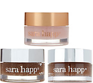 Sara Happ Set of 3 Lip Scrub & Lip Slip Gift Set - A302328
