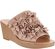 Sole Society Leather Floral Wedges - Poppi - A305028