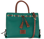 Dooney & Bourke Pebble Leather Tassel Tote Crossbody Bag - A308728