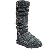 MUK LUKS Miranda - Marled Texture Stripe Boot - A327028