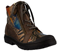 Spring Step LArtiste Lace-up Leather Ankle Boots - Boneca - A355928
