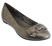 Clarks Bendables Leather Flats w/ Bow Detail - Poem Court - A220829