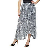 M by Marc Bouwer Animal Print Maxi Skirt with Pleat Detail - A223629