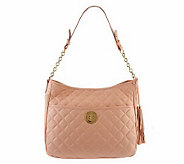 Isaac Mizrahi Live! Bridgehampton Leather Quilted Hobo - A234129