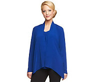 As Is Susan Graver Liquid Knit Cascade Front Cardigan and Tank - A240129