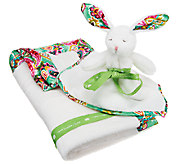 Vera Bradley Signature Print Plush Blanket and Bunny - A251629