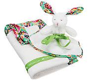Vera Bradley Signature Print Plush Blanket and Bunny - A251629
