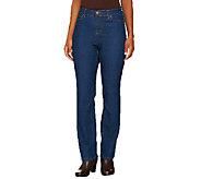 Liz Claiborne New York Petite Hepburn Straight Leg Jeans - A256529