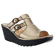 Fly London Slide Wedge Sandals with Buckle Details - Yawe - A266429