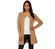 Isaac Mizrahi Live! 2-Ply Cashmere Special Edition Sweater Coat - A267929
