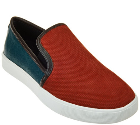 logo by lori goldstein slip on sneakers with goring qvc com