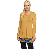 As Is LOGO by Lori Goldstein Twin Set with Knit Top and Printed Tank - A274629