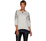 As Is LOGO Lavish by Lori Goldstein Embellished Sweatshirt - A278829