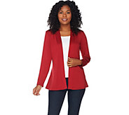 Denim & Co. Essentials Heavenly Jersey Cardigan with Peplum Back - A284529