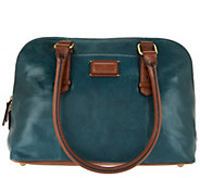 As Is Tignanello Glazed Vintage RFID Dome Satchel - A286329