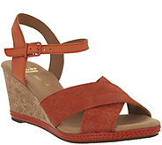 Clarks Leather Cork Wedge Sandals - Helio Latitude - A288929