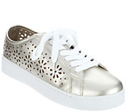 Isaac Mizrahi Live! SOHO Lace-Up Floral Perforated Sneakers - A291329