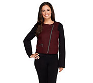 As Is View by Walter Baker Cropped Asymmetrical Zip Jacket - A291529